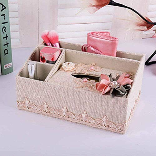 Tissue box,Tissues cube box,Paper towel dispense,Paper towel box,Tissue Box Home Fashion Flower Decoration Lattice Pearl 4 color Napkin Holder Oval Shape Differ Tissue Boxes XH,Pink28.5by16by10.5,Colo