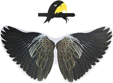 Mifun 鹦鹉服装 鸟翅 带鸟嘴面具,男孩女孩鹰装扮万圣节派对礼品