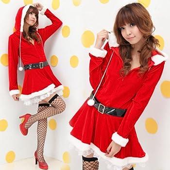 HCP-B32 (フード付サンタコスプレ) セクシーサンタ レディース 2点 セット Santa エロサンタ サンタ コスプレ  衣装 可愛い コスチューム サンタクロース コス サンタコス 激安 サンタコスチューム サンタコスプレ サンタ衣装 帽子 クリスマス セクシー サンタ服 セクシーサンタ クリスマス衣装 クリスマスコスプレ