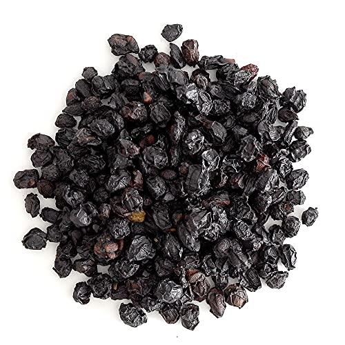 Frontier Co-op Elderberries, European Whole, Certified Organic, Kosher, Non-irradiated | 1 lb. Bulk Bag | Sambucus nigra L.