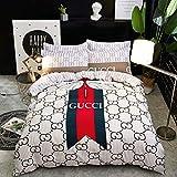 BELOVINGSHOP Bettbezug-Set, Bettwäsche aus 100% Baumwolle Inklusive 1 Bettbezug sowie 2 Kissenbezüge und 1 Bettlaken, Lichtechtheit, Antifouling, Atmungsaktiv,7,Double
