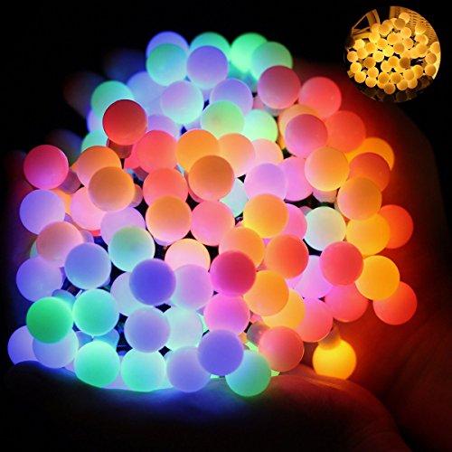 OMGAI Corda a sfera con 8 modalità 5m con batterie 2 in 1, luci a LED a stella che cambiano colore 17ft Multicolore