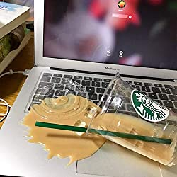 Spilled coffee on macbook at Coffee Shop