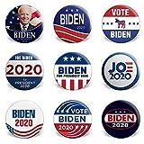 Sbarden Joe Biden para la campaña del Presidente 2020 Botones de patrón Redondo Insignia con Pasador para Chaquetas, Sombreros y Mochilas de Jean(Multi)