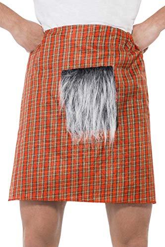Smiffys- Falda Escocesa, roja, con escarcela, Color Rojo, Tamaño único (Smiffy'S 21821)