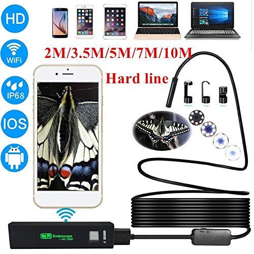 MHCYKJ Endoskop-Kamera-Schlange 1200P HD 8 LED IP68 wasserdichte drahtlose WiFi Endoskope für Smartphone,7M