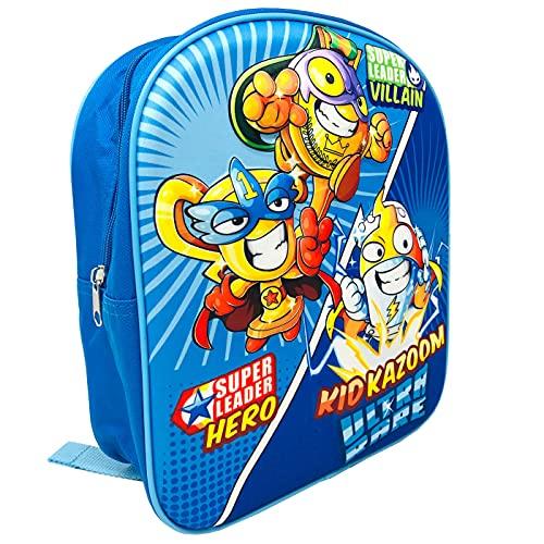 Rivals of Kaboom Mochila 3D Supethings Kid Kazoom Mochila Superzings Serie 8 Mochila 30cm Mochila Niño Color Azul Mochila Infantil Viaje