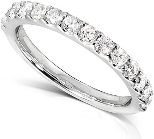 Kobelli Diamond Wedding Band 1/2 carat (ctw) in 14K White Gold