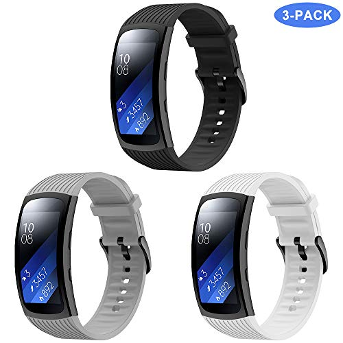 TOPsic Armband für Samsung Gear Fit 2 Pro, Ersatzarmband Silikon Armband Zubehör Uhrenarmband für Gear Fit 2 Pro SM-R365 / Gear Fit 2 SM-R360