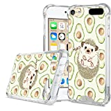 LSL Compatible with iPod Touch 5/6/7 Clear Phone Case Shock Absorption Shockproof Bumper Cover with Cute Hedgehog