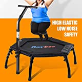 Raybee Mini Trampoline for Adults 40' Folding Leg Fitness Rebounder Trampoline with Adjustable...
