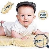 Amazinggirl - Alfombra de Piel de Oveja médica 100% Natural Relugan Eco Tanned en Ready to Go Box Fleece para bebés 100 – 110