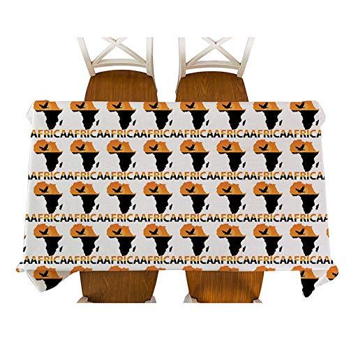 XXDD Afrikanische Art Dekoration Cartoon Tier Elefant Charakter Maske Tischdecke Baumwolle Leinen Tischdecke Tischdecke Dekoration Tischdecke A6 135x180cm