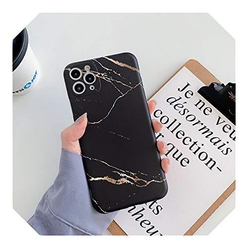 Funda para iPhone 11 Pro Max X XR XS Max 6 6S 7 8 Plus SE 2020 con textura de mármol mate