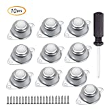 Lutingstore 5/8' Ball Transfer Bearing Unit,Wear-Resistant and Less Noise,Set of 10 Swivel Ball Castor Furniture Trolley Screw Mounted Round Casters (Ball Transfer Bearing+Accessories)