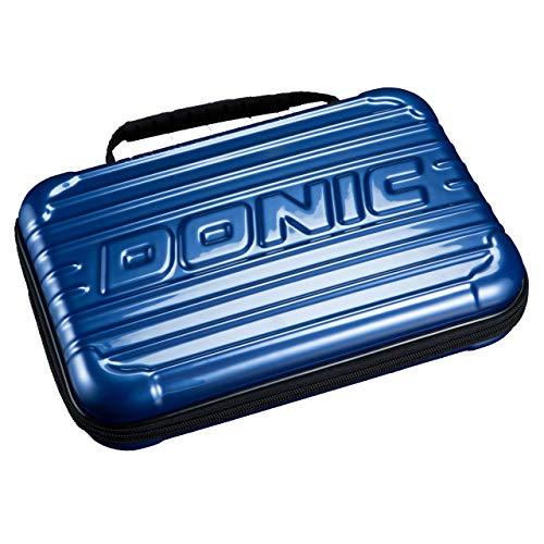 Doni c - Maletín rígido para raquetas de ping pong, en 2 colores (azul)