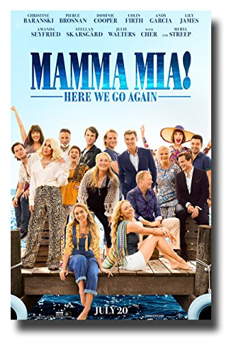 Mama Mia 2 Poster Movie Promo 11 x 17 inches Here We Go Again Dock