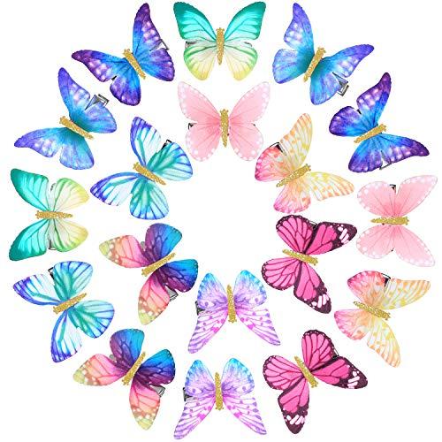 18 Stücke Schmetterling Haarspangen Funkeln Haarspangen Schmetterling Haarspangen für Jugendliche Damen Haarschmuck (Stil 1)