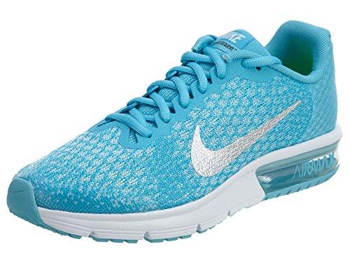 Nike Air MAX Sequent 2 GS, Zapatillas niñas, Turquesa (Chlorine Blue/mtlc Silver/Polarized Blue/Glacier Blue/White/Volt), 36 EU