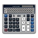MTFZD Calculadora De Escritorio, Calculadora De Escritorio De Función Estándar con Teclas De Computadora Grandes Y Calculadora De Escritorio con Pantalla Solar De 12 Dígitos con Pantalla LCD