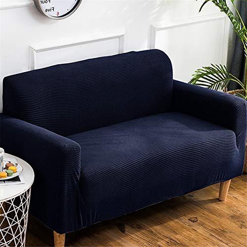 QBFT eenvoudige effen kleur bank Covers dikker antislip bank Slipcover Stretch universele bank beschermhoes Set Chaise fauteuil meubelbeschermer volledig bedekt