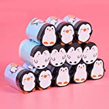 Borrador De Estudiante Grandes Alumnos De Dibujos Animados Especial Pequeño Pingüino Lindo Borrador 12 Piezas