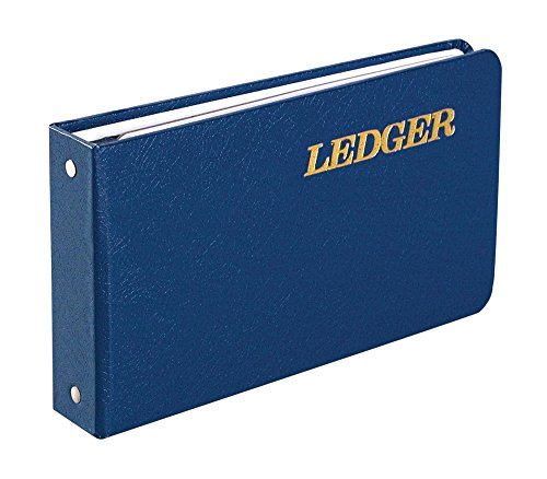 Wilson Jones Ring Ledger Outfit, Bookkeeping System with Ring Binder, Ledger Sheets, and A-Z Indexes (W0203-58BLA), Blue, 1.5'