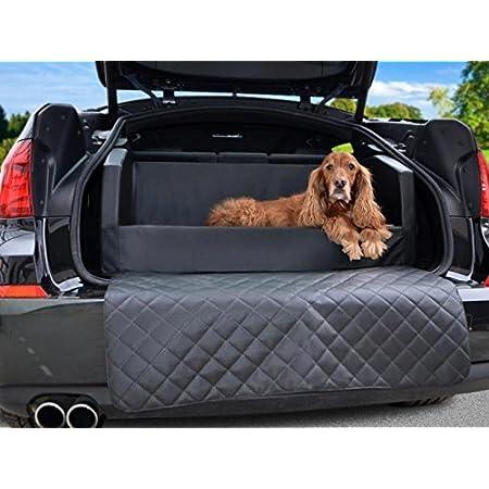 Padsforall Auto Hundebett Kofferraum Schutzdecke Autoschondecke In Schwarz Kunstleder Haustier