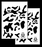 Acid Tactical 2 Pack - 9x14' Single Design Camouflage Airbrush Spray Paint Stencils - Multicam