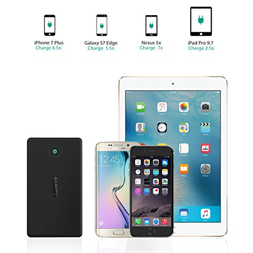 AUKEY 30000mAh Power Bank, Portable Charge with 4.8A Dual-USB Output, Battery Pack Compatible iPhone 12 Pro Max/11 Pro Max/XS/XR, iPad Pro More