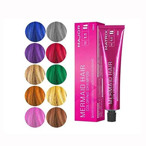 Zeemeermin Haarkleuring Shampoo, Haarverf Set 5 Kleuren Haarkrijt Niet-giftig Voor Halloween Kerst Verjaardagsfeestje, Cosplay Paars