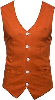 Guiran Men's Casual Slim Fit Wedding Dress Suit Vest Waistcoat