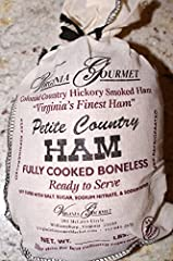 Virginia's Finest salt cured Virginia Country Ham. The best ham you will ever taste. Compare to Smithfield or Edwards brands. Great Every Day Ham & Wonderful Gift for All Occasions! Boneless, 3-4 lbs already cooked, Ready to Serve. Ships Well, Shelf ...