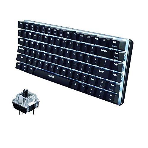 UrChoiceLtd® Ajazz Geek AK33 Usb rétro-éclairé Câblé Gaming Mécanique Clavier Bleu Noir Commutateurs Clavier pour Office, Dactylos et Jouer à des jeux (Interrupteur noir, noir)