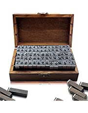 70pcs Alphabet Stamps,Vintage Wooden Rubber Number Letter, Symbol Wooden Box for DIY Card Making Painting Teaching