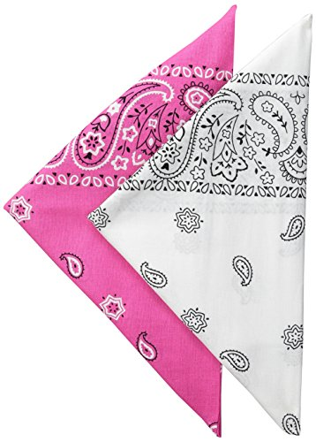 Levi's Men's Printed Bandanas (Pack of 2), Pink/White, One Size