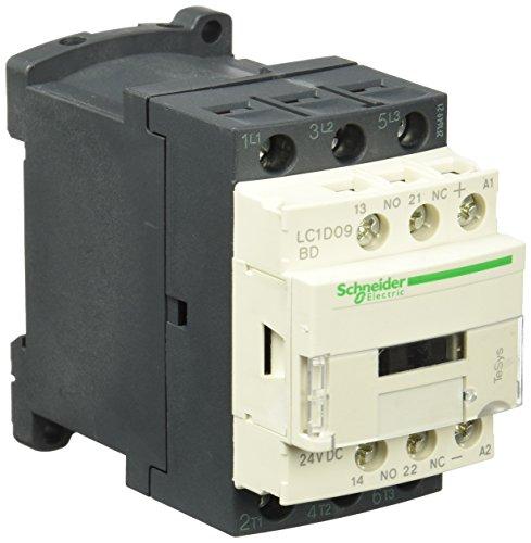 Schneider Electric LC1D09BD Tesys D, Contactor, 3P Ac-3, 440 V 9 A, Bobina 24 V Cd- Antiparasitado
