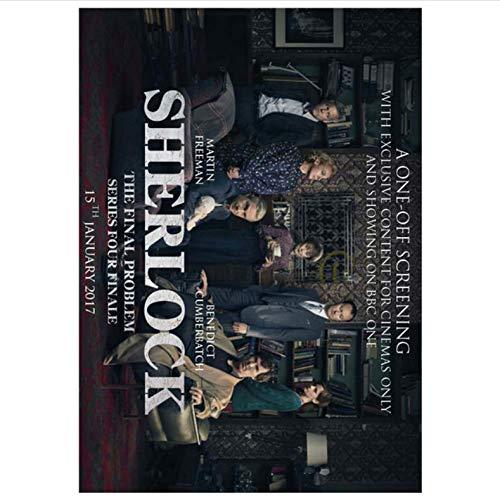 NOBRAND Imprimir En Lienzo Sin Marco Sherlock Holmes American TV Series Retro Poster Impresiones para Sala De Estar Decoración del Hogar Pintura A241 (50X70Cm) Sin Marco
