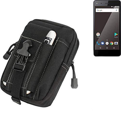 K-S-Trade Gürtel Tasche Für Blaupunkt SL 01 Gürteltasche Holster Schutzhülle Handy Hülle Smartphone Outdoor Handyhülle Schwarz Zusatzfächer