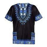 YWLINK Hombres Verano Vintage Estampado Africano Bolsillos D