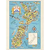 1938 Pictorial Map Fun Map of New Zealand Large Wall Art