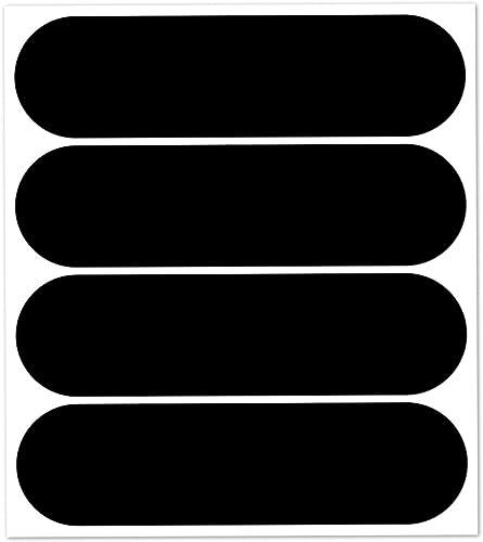 B REFLECTIVE Éco Standard™, Kit 4 Autocollants réfléchissants, 8,5 x 2,7 cm, Noir