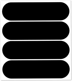 B REFLECTIVE, 4 Stück Kit reflektierende Aufkleber, Nacht Sicherheit Signalisierung Klebeband Reflektor, für Motorradhelme/Motorrad/Motorroller/Fahrrad/Kinderwagen, 8,5 x 2,3 cm Band, Schwarz