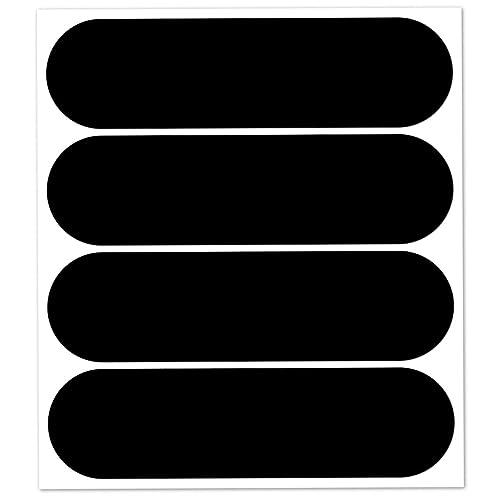 B REFLECTIVE, Kit 4 Autocollants réfléchissants, 8,5 x 2,7 cm, Noir