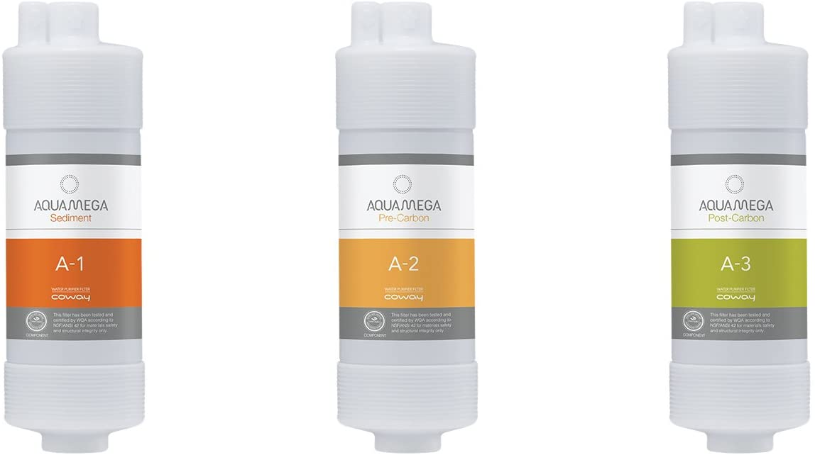 Coway Aquamega Replacement 4 years warranty Atlanta Mall Filter 2.5 White x 8.2 inches