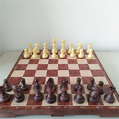 AVOA Ajedrez magnético internacional plegable de madera, juego de mesa, juego divertido...