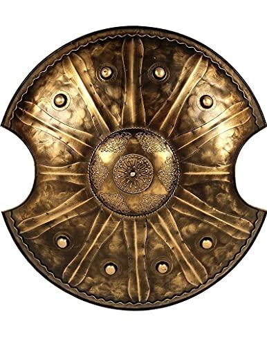 Escudo de guerra troyano retro escudo griego antiguo hecho a mano artesana de metal para caballero soldado guerrero traje batalla juego Halloween Cosplay marrn