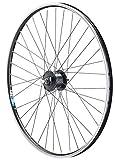 Vuelta 28 Zoll Vorderrad Fahrrad Hohlkammerfelge Cut 19 Shimano Nabendynamo DHC 30003 Vollachse schwarz für V-Brakes/Felgenbremse