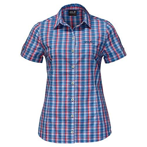 Jack Wolfskin Damen Hemd River Shirt Women, Ocean Wave Checks, S, 1400992-7919002