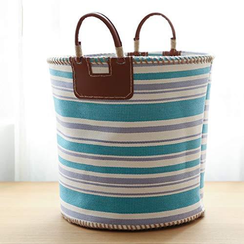 QYSZYG Stoff Multifunktionale Lager Eimer Wäschekorb mit Griff Design, Wohnzimmer Schrank, DREI Farben Optional Ablagekorb (Color : B, Size : 40×36×38)